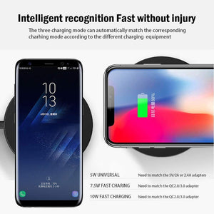 Wireless Charger Qi Smart Quick Charge Fast Charger 7.5W for Mi MIX 2S iPhone X XR XS 8 plus 10W For Sumsung S9