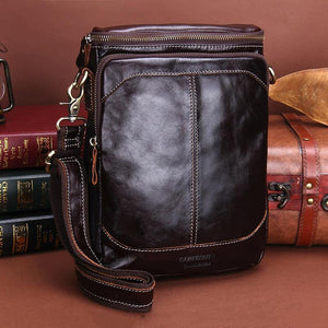 Fashion Genuine Leather Shoulder Bag Men Crossbody Bags Small Over-the-shoulder Messenger Bags Luxury Male Travel Bag