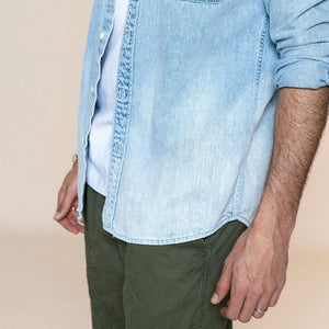 spring summer new washed-denim western Shirt men fashion 100% cotton plus size comfortable shirts