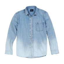 Load image into Gallery viewer, spring summer new washed-denim western Shirt men fashion 100% cotton plus size comfortable shirts
