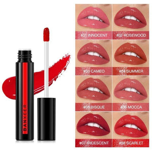 Lipgloss Shimmer No Matte 8 Colors Liquid Lipgloss Waterproof Long Lasting Lipstick Light Gel  Makeup Cosmetic