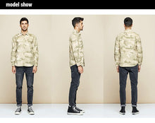 Load image into Gallery viewer, Autumn 100% Cotton Camouflage Embroidery Shirt Men Dress Casual Slim Fit Long Sleeve For Male Fashion Blouse