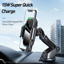Load image into Gallery viewer, Qi Car Wireless Charger for iPhone 11 Samsung Xiaomi 15W Induction Car Mount Fast Wireless Charging with Car Phone Holder