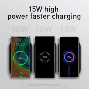 15W Qi Wireless Charger Stand For iPhone 11 Pro X XS Fast Wireless Charging Pad For Samsung S20 S10 Phone Charger Station