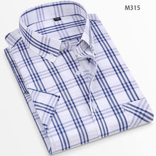 Load image into Gallery viewer, Summer 100% Cotton Breathable Short Sleeve Men's Checkered Shirt  Slim Fit Casual Cool Male Plaid Shirts Many Colors
