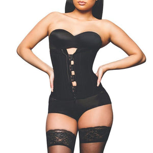 Hook Zipper Rubber Latex Waist Trainer Sexy Corsets and Bustiers Waist Cincher Corset Tops Slimming Shapewear