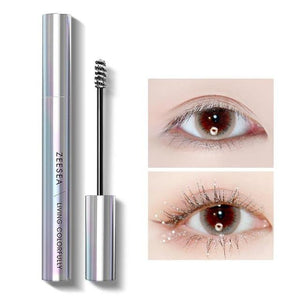 New 9 Colors Mascara Shine Colourful Curling Waterproof Fast Dry Eyelash Extension Cosmetics Makeup