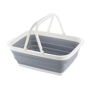portable collapsible basket shopping basket foldable storage basket home organizer with handle trip