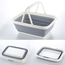 Load image into Gallery viewer, portable collapsible basket shopping basket foldable storage basket home organizer with handle trip