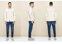 Load image into Gallery viewer, Spring 100% Cotton Pocket Shirt Men Dress Button Casual Slim Fit Long Sleeve For Male New Fashion Brand Clothes