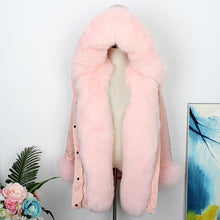 Load image into Gallery viewer, Long Parkas Winter Jacket Women Real Fur Parka Natural Fox Fur Liner Duck Down Coat Double Face Wear Streetwear