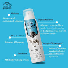 Load image into Gallery viewer, Whitening Milk Sunscreen Spray SPF30+ Strong Whiten Cream Face Body Care Waterproof Long Lasting Sunblock Breathable - moonaro