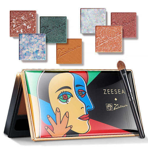 New Picasso 7 colors Eyeshadow Palette Pigmented Glitter Shimmer Matt WaterProof Eye shadow Makeup Glazed Cosmetics - moonaro