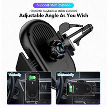 Load image into Gallery viewer, 15W Car Mount Wireless Charger for iphone 11 pro Xs Xr X Car phone holder Fast Charging For HUAWEI P30 Samsung S10 S9