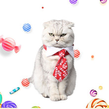 Load image into Gallery viewer, Adjustable Christmas Printing Cat Collar Halloween Pet Red Collar Dress up Christmas Costume Cat Funny Costume Gato Accessories