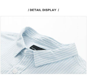 summer new stripe stretch short sleeve comfortable personality male cotton breathable