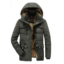 Load image into Gallery viewer, Winter Men Parka Jacket Windproof Outdoor Men's Thick Coat Warm Casual Hooded Coats Male Hat Detachable Man's Jackets