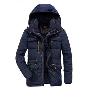 Winter Men Parka Jacket Windproof Outdoor Men's Thick Coat Warm Casual Hooded Coats Male Hat Detachable Man's Jackets