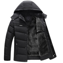 Load image into Gallery viewer, Men Parkas Winter Outwear Mens Thick Jacket Casual Fashion Windproof Hooded Coat Warm Fleece Man's Jackets