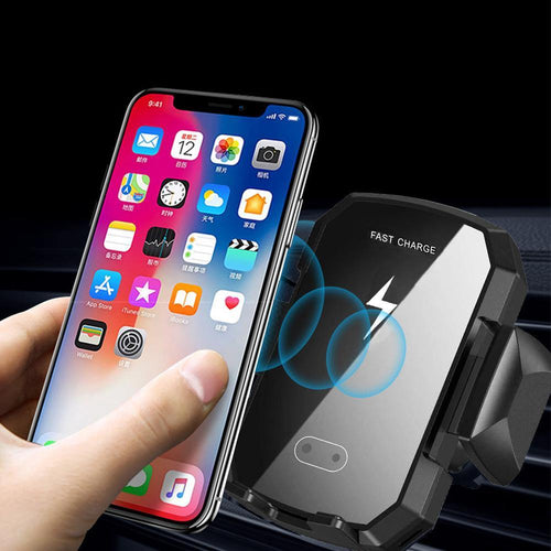 Qi Car Wireless Charger For iPhone 8/X/Xs Fast Wireless Charging for Samsung S9 S10 xiaomi Car Phone Holder Charger