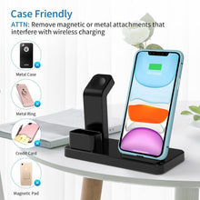 Load image into Gallery viewer, 3 in 1 Wireless Charging Stand 10W Fast Wireless Charger For phone Charging Station for Airpods 2019 Watch 4 32