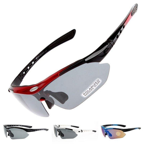 Polarized Cycling Glasses 5 Lens Clear Bike Glasses Eyewear UV400 Proof Outdoor Sport Sunglasses