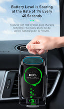 Load image into Gallery viewer, 15W Qi Wireless Car Charger For iPhone 11 Fast Car Wireless Charging Holder For Samsung S20 Xiaomi Mi 9 Induction Charger