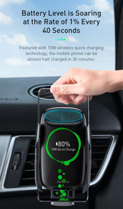 15W Qi Wireless Car Charger For iPhone 11 Fast Car Wireless Charging Holder For Samsung S20 Xiaomi Mi 9 Induction Charger