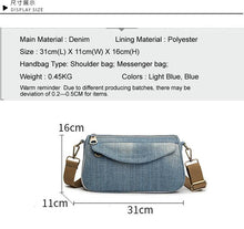 Load image into Gallery viewer, Fashion Women Messenger Bag New Brand High Quality  Female Shoulder Bag Luxury Blue Woman Bags