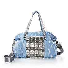 Load image into Gallery viewer, Ladies Messenger Bags Leisure Travel Tote  Denim Handbags Fashion Luxury Diamante Big Bag
