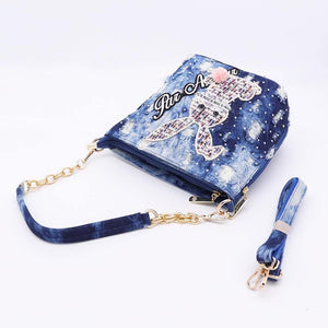 bucket bag ladies washed denim bag for women's bags small handbag female shoulder crossbody bag blue tote