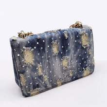 Load image into Gallery viewer, Women Small Square Pack Shoulder Bag Fashion Star Sequin Designer Messenger Crossbody Bag Clutch Wallet Handbags - moonaro