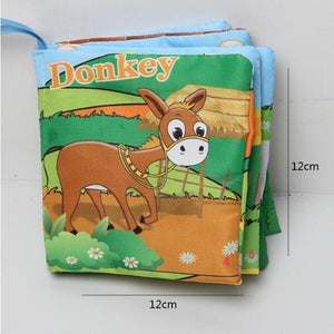 Baby Toys Infant Baby Book Early Development Cloth Books For Kids Learning Education Activity Books Animal Tails Dinosaur