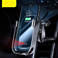 Load image into Gallery viewer, 10W Car Qi Wireless Charger For iPhone 11 Pro XS Max Samsung Car Phone Holder Intelligent Infrared Fast Wireless Charging