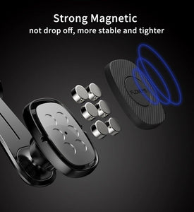 Magnetic Car Phone Holder for iPhone Foldable Mount Mobile Phone Holder for Dashboard Paste Flexible Car Holder Stand