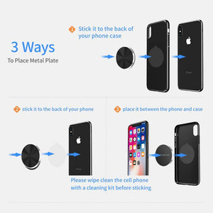 Magnetic Disk For Car Phone Holder Iron Sheet Universal Metal Plate For Magnet Mount Phone Holder Stands Support in Car - moonaro