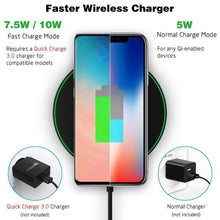 Load image into Gallery viewer, Wireless Charger Qi Smart Quick Charge Fast Charger 7.5W for Mi MIX 2S iPhone X XR XS 8 plus 10W For Sumsung S9
