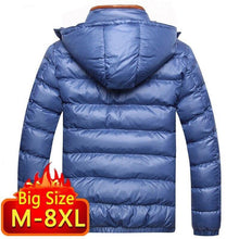 Load image into Gallery viewer, Winter Jacket men Casual Men's Jackets And Coats Outwear cotton padded Parka Men windbreaker hooded Male Clothes