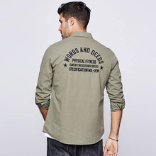 Load image into Gallery viewer, men's long sleeve shirts men fall casual and comfortable cotton embroidery fashion men's shirts