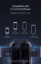 Load image into Gallery viewer, 15W Wireless Car Charger For iPhone 11 Pro Fast Car Wireless Charging Holder For Samsung S20 Xiaomi mi 9 Gravity Charger