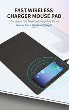 Load image into Gallery viewer, Phone Wireless Charger Mouse Pad Fast Charging Mat PU Leather Computer Mousepad For iPhone 11 Pro X Samsung S10 Huawei