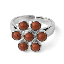 Load image into Gallery viewer, 1Pc 7 Chakra Rings Reiki Energy Healing Point Stone Beads Adjustable Ring Rainbow Flower Women Finger Ring