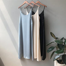 Load image into Gallery viewer, Women's Dress Solid Multi Colors Basic Satin Sexy Casual Sleeveless Vintage Elegant Wild Lady Long Dress