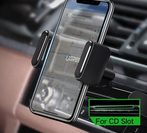 Car Phone Mount CD Slot Car Phone Holder for iPhone 8 Magnetic Holder Stand Clip Cell Phone Holder for Huawei Tablet GPS - moonaro