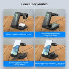 Load image into Gallery viewer, 5 IN 1 Qi Wireless Charging Station with Adapter For Samsung Galaxy Phone Watch Buds 15W Fast Wireless Charger Dock