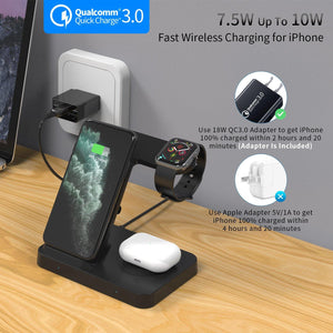 5 IN 1 Qi Wireless Charging Station with Adapter For Samsung Galaxy Phone Watch Buds 15W Fast Wireless Charger Dock