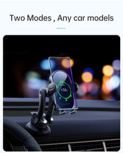Load image into Gallery viewer, 15W Fast Qi Car Phone Holder Wireless Charger Automatic Gravity Air Vent Clip Stand For iPhone 11 X Huawei xiaomi in Car
