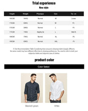 Load image into Gallery viewer, summer Men's shirts summer  Men's fashion 7 minutes of sleeve leisure plaid shirt Half sleeve shirt