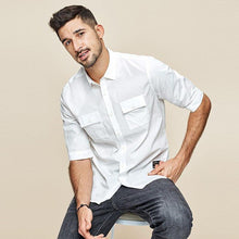 Load image into Gallery viewer, Men's short sleeve shirt spring  Men's leisure fashion simple tooling shirt  summer top
