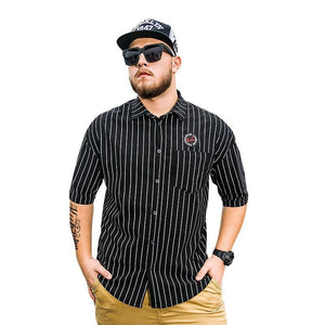 New Arrival Summer Style Men's Short Sleeve Shirts Vertical Stripes Casual Fashion Shirts Loose Fit BIG Plus Size 6XL 5XL 4XL-XL